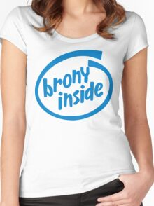 Brony Inside Women's Fitted Scoop T-Shirt