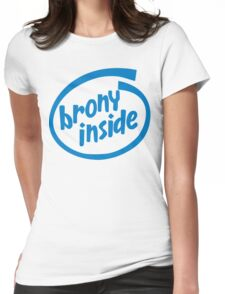 Brony Inside Womens Fitted T-Shirt