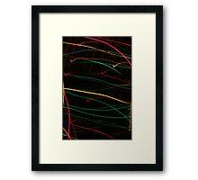 Suburb Christmas Light Series  - Checking the List Framed Print