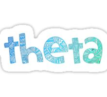 Theta Tribal Sticker (Blue) Sticker