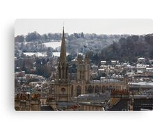Snow-covered Bath, UK  Canvas Print
