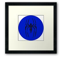 Spider-Man Segmented Logo (blue) circle Framed Print