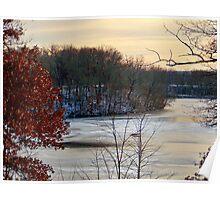 Sunset on Lake Mallalieu Poster
