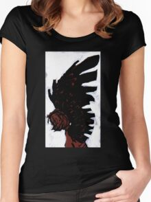 Dark Angel A Painting by Ravenart Women's Fitted Scoop T-Shirt