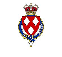 Coat of arms (family crest) for last-name or surname Freeman (England) . Heraldry banner for your name. Photographic Print