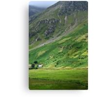 House on the old road, Snowdonia Canvas Print