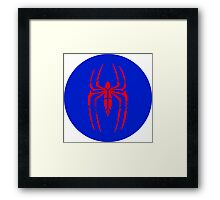 Spider-Man Segmented Logo (classic colors) circle Framed Print