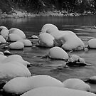 Merced River with Snow by Ken Scarboro