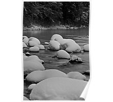 Merced River with Snow Poster