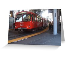Don't miss the trolly Greeting Card