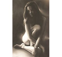 Soliloquy, charcoal+chalk; the truth about suicide. Photographic Print