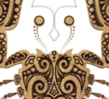 Rustic Cancer Zodiac Sign on Black Sticker