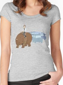 A better way to travel Women's Fitted Scoop T-Shirt