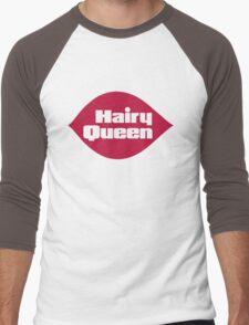 Hairy Queen Parody Logo Men's Baseball ¾ T-Shirt