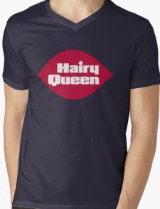 Hairy Queen Parody Logo Mens V-Neck T-Shirt