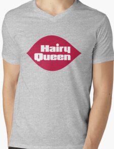 Hairy Queen Parody Logo Mens V-Neck T-Shirt