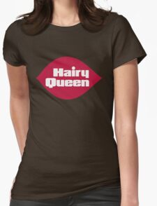 Hairy Queen Parody Logo Womens Fitted T-Shirt