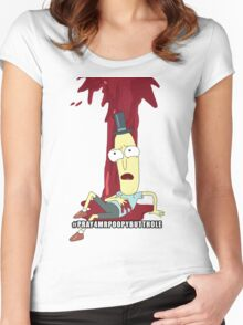 Rick and Morty: #PRAY4MRPOOPYBUTTHOLE Women's Fitted Scoop T-Shirt