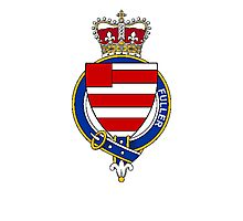 Coat of arms (family crest) for last-name or surname Fuller (England) . Heraldry banner for your name. Photographic Print