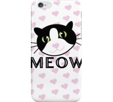Cat with Hearts MEOW iPhone Case/Skin