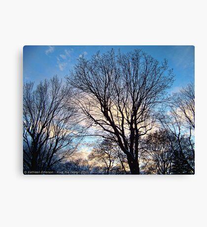 November Sky in Kalispell - West Canvas Print