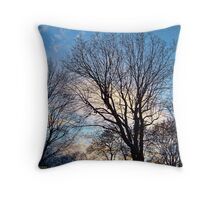 November Sky in Kalispell - West Throw Pillow