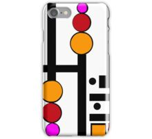 modernism red yellow pink iPhone Case/Skin