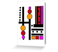 modernism red yellow pink 2014 Greeting Card
