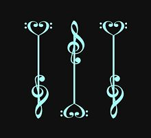 3 Music Arrows - in Blue Womens Fitted T-Shirt