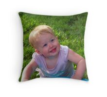 Child with a Smile Throw Pillow