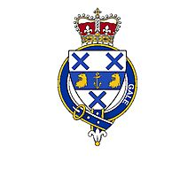 Coat of arms (family crest) for last-name or surname Gale (England) . Heraldry banner for your name. Photographic Print