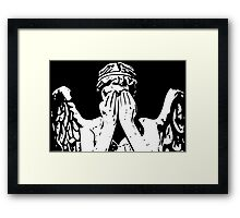 Weeping angel digital sketch Framed Print