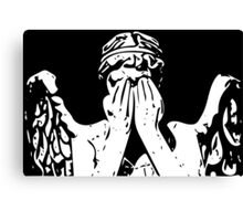 Weeping angel digital sketch Canvas Print