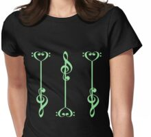 3 Music Arrows - in Green Womens Fitted T-Shirt