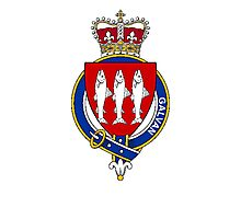 Coat of arms (family crest) for last-name or surname Galvan or Galvin (Ireland) . Heraldry banner for your name. Photographic Print