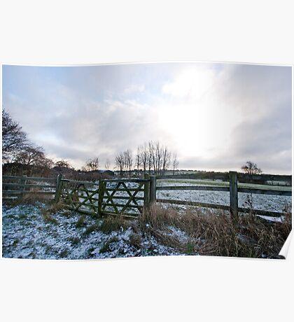 Yorkshire snow scene Poster
