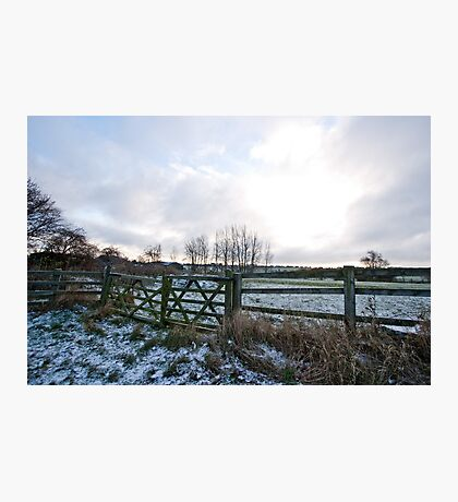 Yorkshire snow scene Photographic Print