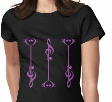 3 Music Arrows - in Purple Womens Fitted T-Shirt