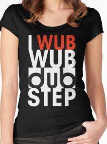 I wub wub dubstep (black) Women's Fitted Scoop T-Shirt