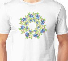 Swirling Maine Blueberries Unisex T-Shirt