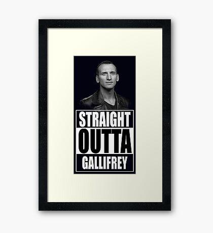 Straight Outta Gallifrey - Dr. Who Framed Print