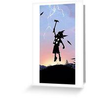Thor Kid Avengers Greeting Card