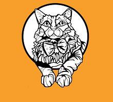 Sharpie Cat: Fluff Womens Fitted T-Shirt