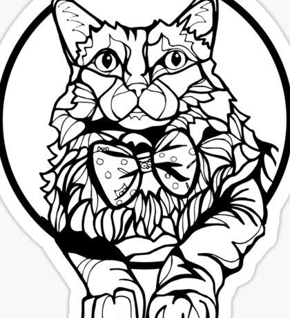Sharpie Cat: Fluff Sticker