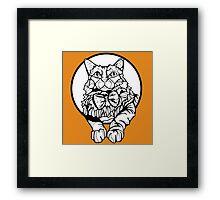 Sharpie Cat: Fluff Framed Print