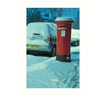 Cold Letters, Warm Heart: Snowy Letterbox Art Print