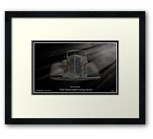 1933 Oldsmobile Touring Sedan - Rum Runner Framed Print