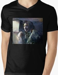 Portrait of Kip Hanrahan (at the 11th Street Studio, NYC) Mens V-Neck T-Shirt