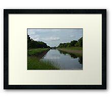 Canal in Sri Lanka Framed Print