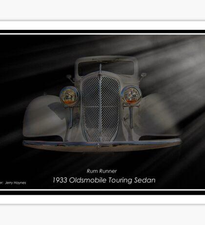 1933 Oldsmobile Touring Sedan - Rum Runner Sticker
